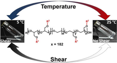 Tunable Temperature- and Shear-Responsive Hydrogels Based on Poly(alkyl glycidyl ether)s
